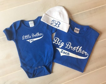Big Brother Little Brother Shirt Set, Big Brother Shirt, Little Brother Shirt, Big Brother Baseball Shirt, Big Brother Announcement Shirt