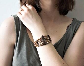 Primitive Creed Bracelet, Sundance Style Jewelry, Sundance Style bracelet, cuff bracelet, boho bracelet, gemstone, sterling silver bracelet