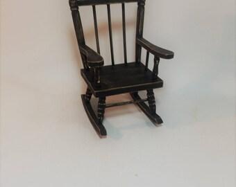 Vintage Doll Wood Rocking Chair