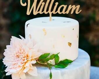 Custom Cake Topper, Wood Cake Topper, Name Cake Topper, Wedding Cake Topper, Cake Topper, Personalized Topper,  Rustic Cake Topper, Wedding