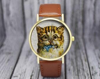 Kitten with Doll Watch | Cat Watch | Womens Watch | Ladies Watch | Gift for Her | Birthday | Wedding | Gift Ideas | Fashion Accessories