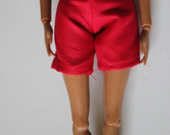 red shorts for 11.5 inch dolls such as barbie