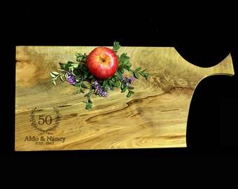 Personalized Maple Cutting Board 22x10 - Anniversary Cutting Board - 50th Anniversary Gift - 25th Anniversary Board - Cheese Board