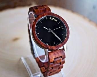 Mens Wood Watch, Wooden Watch, Gift for Him, Mens Wooden Watch, Anniversary Gift, Wedding Gift, Mens Watch, Groomsmen Gift, Groom Gift