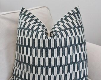 Clay Studio Pillow Cover //Arrow Midnight Zig Zag Geometric Pillow Cover - Graphic Pillow Cover 18x18 20x20 22x22 18 20 22