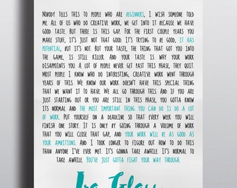 Ira Glass on Beginners (inspiration, quote) PRINT
