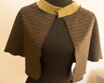 Brown wool cape