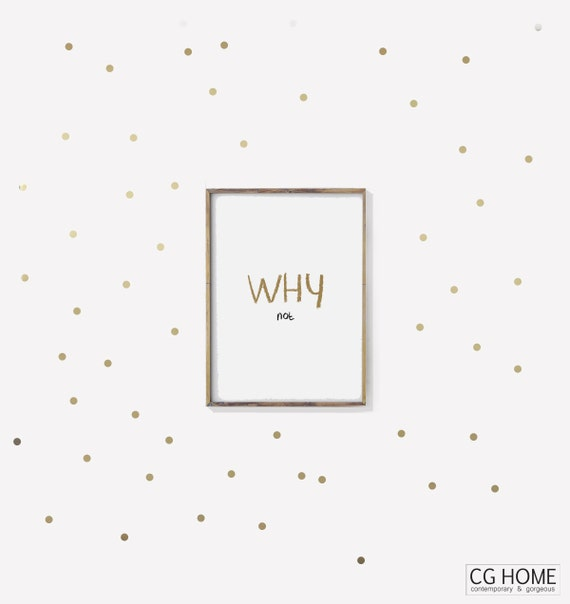 gold DOTS wall decals Tiny Stickers For Children Wall Decals Kids Wall Sticker Dot Pattern vinyl NURSERY Art Scandinavian Home CGhome