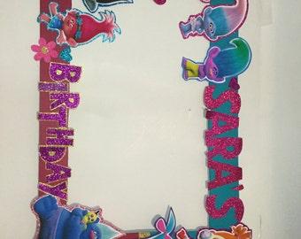 Trolls birthday. Trolls Photo booth Frame. Shopkins photo booth props. Shopkins birthday. Shopkins party decoration. shopkins party