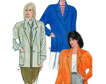 Butterick 3065, Women, Blazer, Sewing Pattern, Raglan Sleeve, Double Breasted, Single Button, Loose Fit Jacket, Roomy Fit, Size 8-10-12