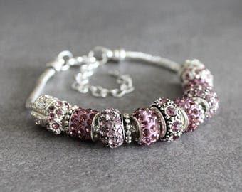 June Birthstone Bracelet, Alexandrite Bracelet,June Bracelet,Purple Bead Bracelet,Alexandrite Birthstone Bracelet,Purple Birthstone Bracelet