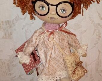 Doll- textile art doll- textile doll- art doll- vintage doll- handmade doll