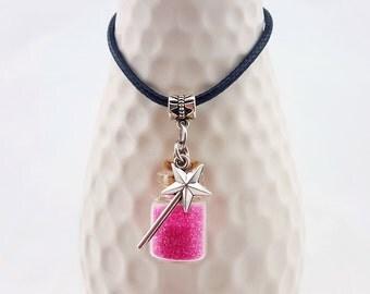 Handmade Fairy necklace - Custom fairy necklace - Fairy wand necklace - Fairy jewelry - Faerie necklace - Fairy magic wand necklace - wishes