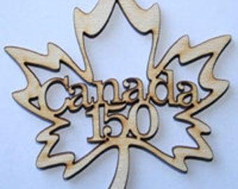 Canada 150 Wood Maple Leaf