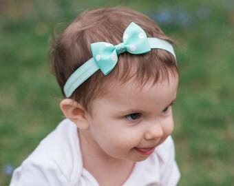 Polka Dots Bow Tie Headband, Dots Bow Tie  Headband, Bow Tie  Bow, Polka Dots, Baby Headband, Toddler Headband,