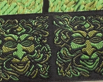 "Jacquard Ribbon Trim | 1-1/4"" Inch Woven Jacquard Ribbon 
