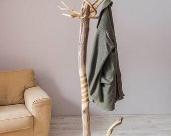Coat rack, Free standing driftwood coat stand, Rustic coat stand, Rustic coat stand hanger, Coat rack stand, Coat rack, Wood coat stand