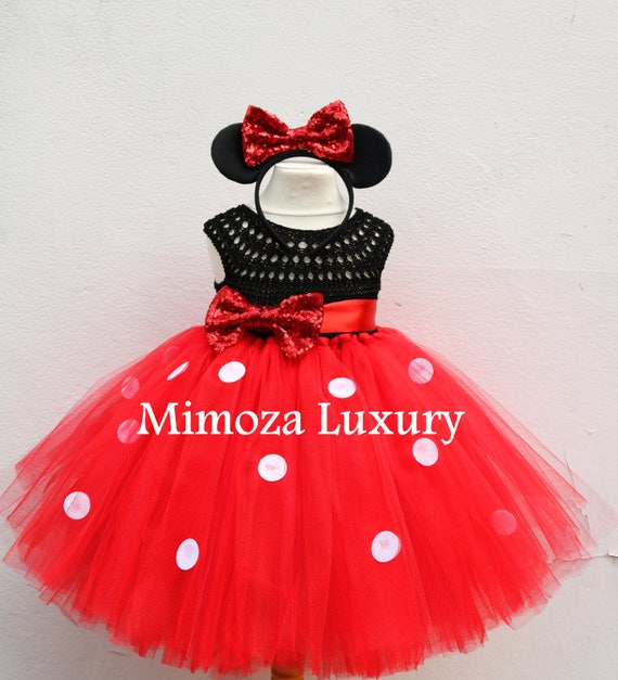 Mickey mouse dress, mickey mouse birthday dress, Flower girl dress, birthday tutu dress, miki mouse theme princess dress