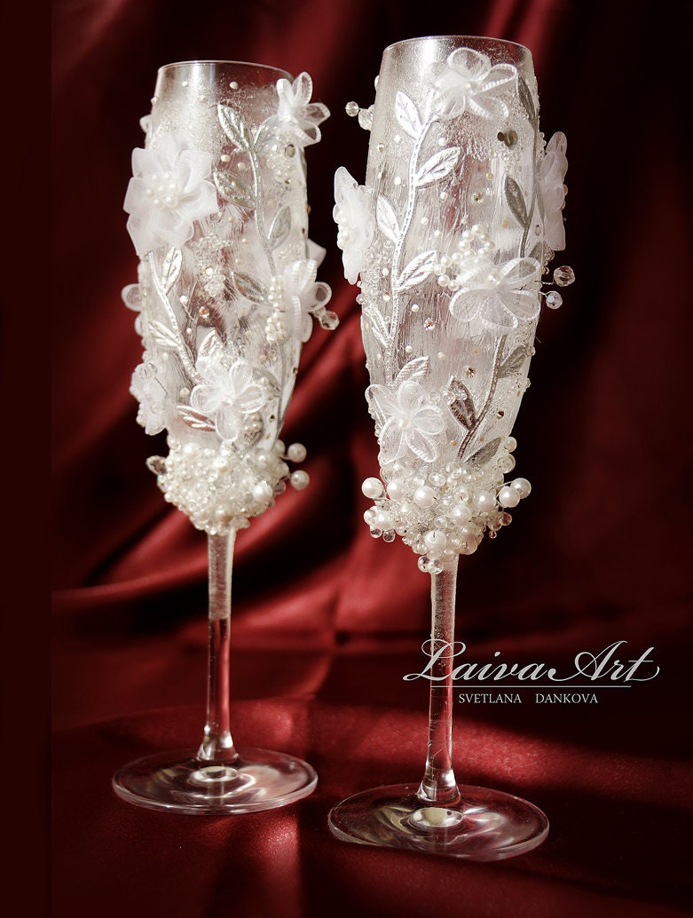 Wedding Champagne Flutes Toasting Glasses Toasting Flutes