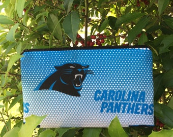 Panthers Pencil Pouch, Cosmetic Pouch, Coupon Holder, Makeup Bag, Coin Pouch