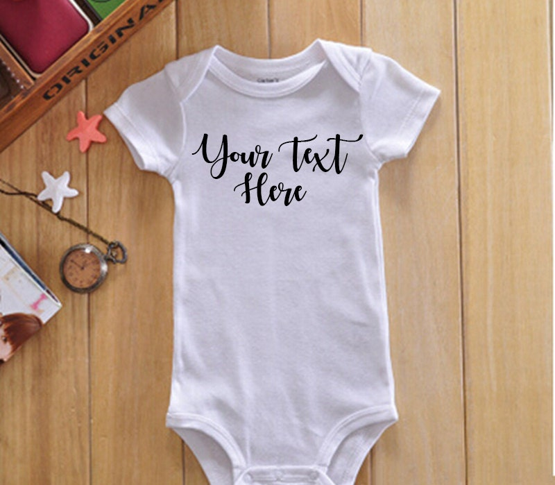 Custom Baby Onsie, Girly Font, Personalized Onsie, Create Your Own Onsie,  Unique