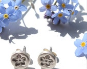 Small silver flower stud earrings, forget-me-not stud earrings, silver stud earrings, silver studs, handmade silver studs, small studs