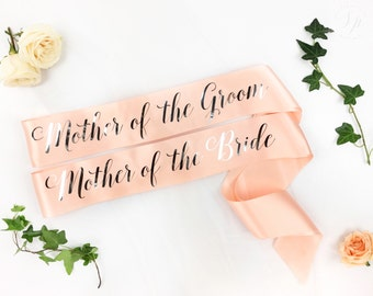 Mother of the Bride sash -Mother of the Groom sash -Bride to Be Sash - bridal party sash- bridesmaid sash - Bridal Shower Bachelorette Party
