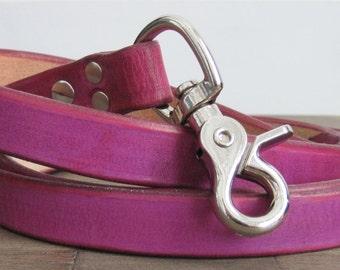 Leather Dog Leash - Medium Width - Custom Dog Lead