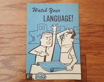 GM General Motors Ephemera, 1958  - Watch Your Language - General Speaking Guide - GM Staff Pamphlet