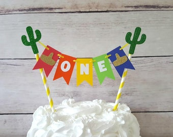 Fiesta Cake Topper, Fiesta First Birthday Decorations, Fiesta Cake Bunting, Fiesta Cake Topper, Fiesta Smash Cake Topper, Taco Bout A Party