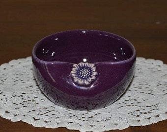 purple bowl, trinket bowl, ring dish, jelly bowl, sugar bowl, serving bowl, snack bowl, dessert dish