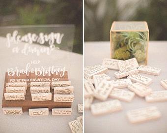 """acrylic calligraphy wedding sign // custom 8"""" x 10"""""""