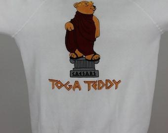 Caesars Palace 1980s Vintage Toga Teddy Sweatshirt, size L
