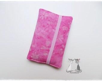 Batik business card case - pink