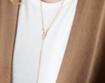 Gold Lariat Necklace with Triangle and Hamsa, 16k gold Triangle Hamsa, Gold Rope Necklace, Geometric Necklace, Minimalist Necklace