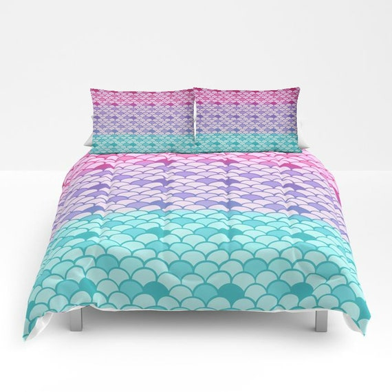 Mermaid Scales Comforter Or Duvet Cover Set Twin Full