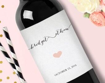 Engagement Party Wedding Personalized Custom Wedding Wine Labels