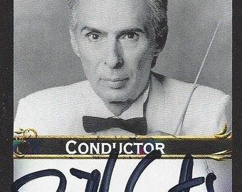 Bill Conti Authentic AUTOGRAPHED Custom Trading Card