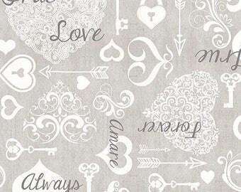 Wedding Love Heart Fabric