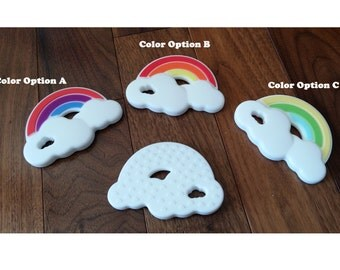 Silicone Rainbow Teethers/Pendants