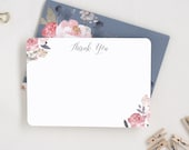 Thank You Card Set. Floral Stationary. Blank Thank You Card. Floral Thank You. Floral Thanks. Floral Set of 10. Blank Floral Thanks.