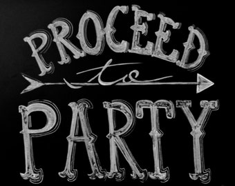 Proceed to party done in white chalk