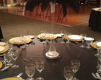 Black Ostrich Feather Centerpiece for Weddings/Birthday/Holiday parties/Great Gatsby/ Roaring 20's/Hollywood Glam Themes
