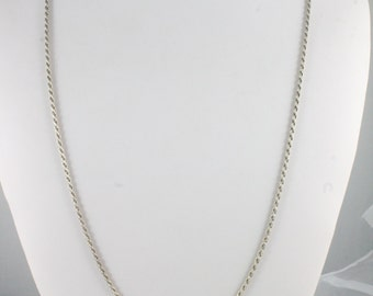 """30"""" Sterling Silver Figaro Chain"""
