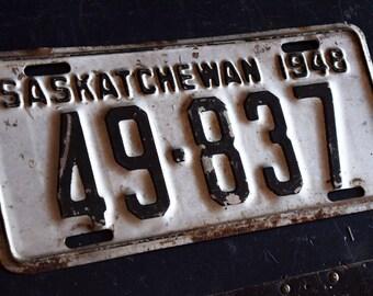 1948 Saskatchewan License Plate - 49-837