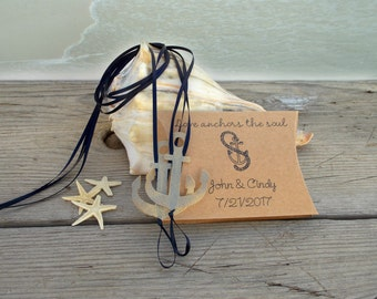 Anchor wedding favors, beach wedding guest gift, barefoot sandals, custom box, gold or navy, shoes optional beach shoe, nautical party favor