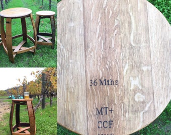 barrel bar stool wine furniture napa valley bench chair seat side indoor outdoor source