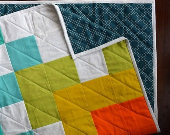 The Solstice Quilt - Modern Pixel Quilt