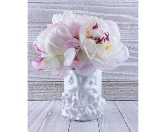 Wish Upon a Star Mermaid Vase/Brush Holder Octagonal