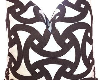 Trina Turk Pillow ONE Decorative  Pillow Cover Outdoor Pillow  Schumacher Trina Turk Santorini Java Brown Pillow